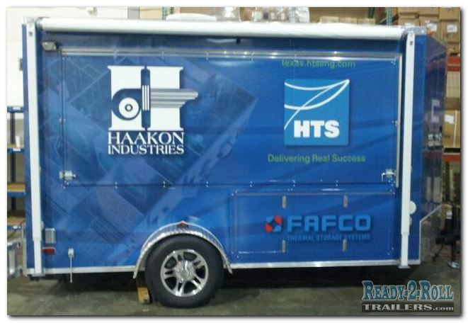 6x12 Corporate Wrapped Advertising Trailer