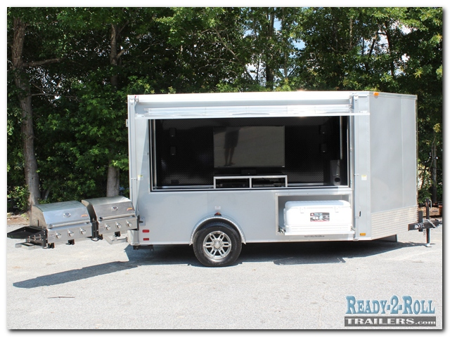 6x12 Crop Productions Promotional Tailgating Trailer
