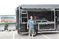 Justin Sheppard of Eugene-Oregon Ducks Tailgating Trailer