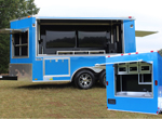 Dallas Texas Tailgate Trailer / Mr. and Mrs. Ball w/ Our New Rear Food Prep Station