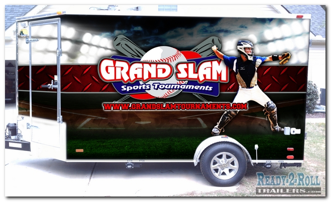6x12 Grand Slam Double Wrap Tailgating Trailer