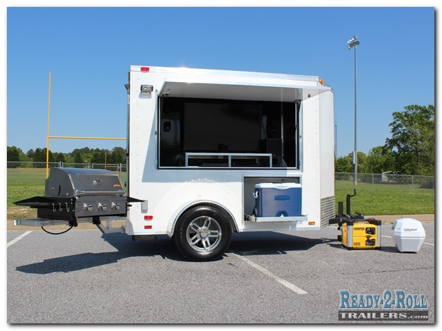 5x8 White Standard Tailgating Trailer