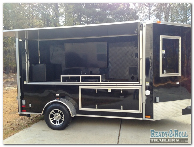6x12 Black Mixed Drink Station Tailgating Trailer