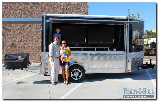 6x12 Double TV Mount Party Trailer