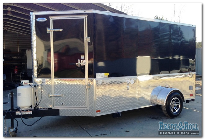 Black Tailgating Party Trailer With 2 TV Mounts And Keg Tap