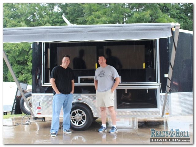 Tailgating Trailer With A Pull Out Generator Compartment
